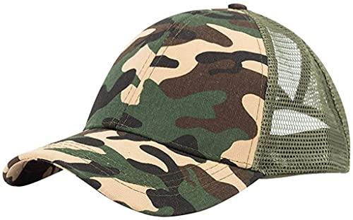 Al aire libre unisex béisbol tapa de malla abierta trasera de color sólido sol sombrero clásico deportes casual liso sombrero ajustable tapa ligero transpirable suave suave protección de verano pesca
