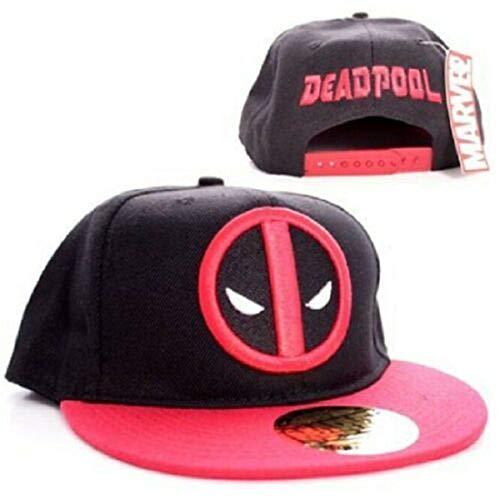 Marvel Comics Deadpool Casquette pour homme réglable à l'arrière – Logo classique baseball, noir