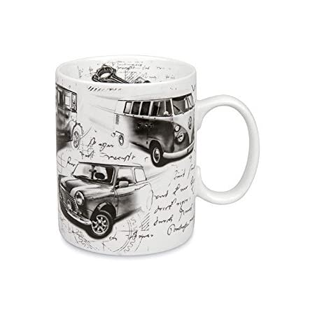 Sport Kaffee Becher Könitz Porzellan 400ml Tasse  Spotry Automotiv Legenden