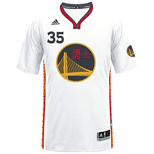 adidas NBA Men's-Kevin Durant #35-Golden State Warriors-Swingman Jersey-Chinese New Year-White (XXXX-Large)