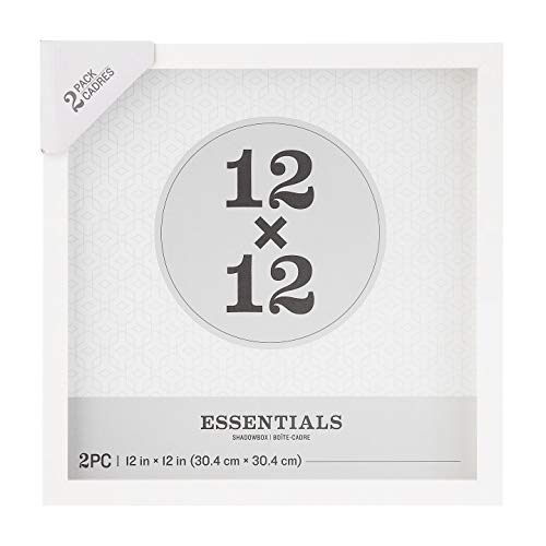 Darice Essentials White 12 x 12 inches, 2 Pieces Shadow Box, 2 Count