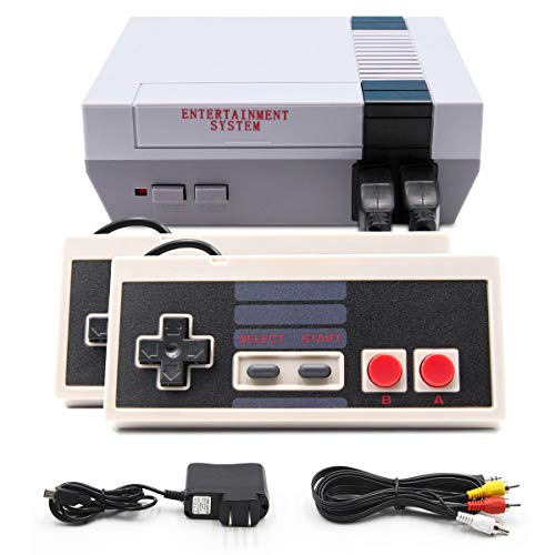 Classic Mini Retro Game Console, EFFUN Retro Game Console with Built-in 620 Games and 2 NES Classic Controller, AV Output Video Game for Kids Gift, Birthday Gift Happy Childhood Memories