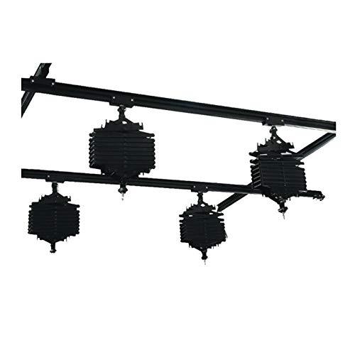 Sistema de riel de techo de 59 pulgadas para estudio de fotografía de estudio, 4 piezas, sistema de riel de montaje de iluminación de estudio de panorgrafía, kit completo de 1.5 m