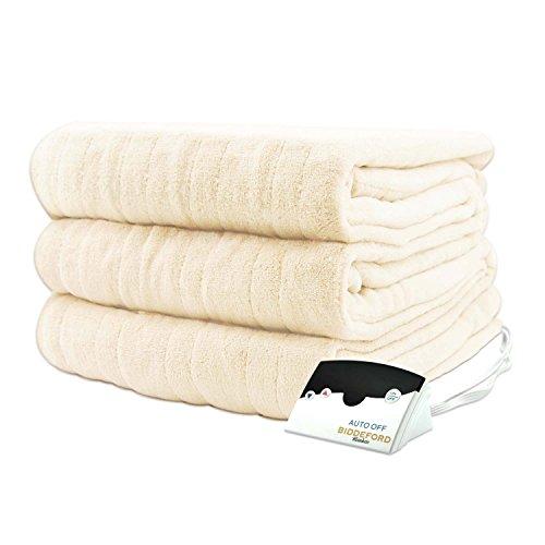Bidderford Blankets Micro Plush Heated Blanket, Full, Cr