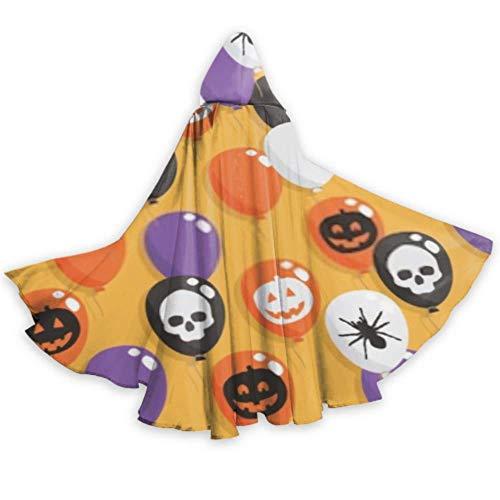 SUUJ Unisex Mardi Gras Cape, Nahtlose Muster Halloween Luftballons Clipping Weihnachten Kapuzenmantel, Halloween Kostüm Hochzeit Braut Umhang