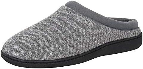 Hanes Men s ComfortSoft Memory Foam Indoor Outdoor Clog Slipper Shoe Grey Large product image