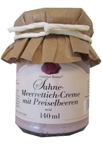Gourmet Berner Sahne-Meerrettich Creme mit Preiselbeeren