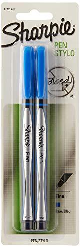 Sharpie Pen Fine Point Pen, 2 Blue Pens (1742660)