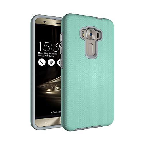 PAN - Custodia protettiva per smartphone Asus ZenFone 3 ZE552KL Ball Texture antiscivolo in PC + TPU (colore: verde)
