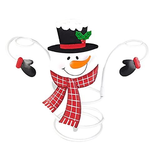 surfsexy Botella de vino de vacaciones y sostenedores de vidrio Organizador de tema de Navidad Rack Festival Decoración de escritorio para el hogar Decoración de fiesta de Navidad para la familia