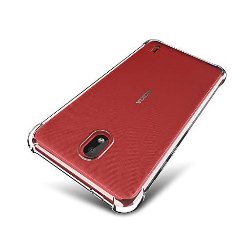SLEO Custodia Nokia 1 Plus [Custodia Silicone Gel Protezione] Morbido TPU Ispessimento del Bordo [Trasparente Cristallo] Nokia 1 Plus Cover - Trasparente