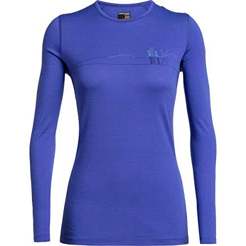 Icebreaker 200 Oasis Longsleeve Crewe Shirt - Skis in Snow - Women - shirt met lange mouwen