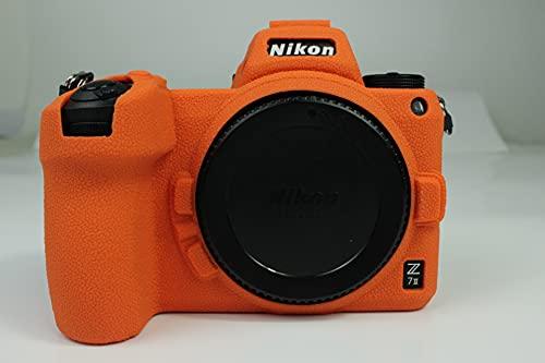 Z6/Z7 II funda, Zakao suave bolsa de silicona ligera y delgada, funda protectora de goma para cámara digital Nikon Z6 II/Z7 II (naranja)