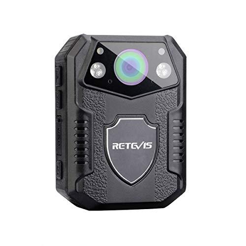 Retevis RT77 Körper Kamera Mini HD 1080P 21MP Polizeikamera getragen Videokamera 150°Blickfeld Sicherheit IR Nachtsicht Bewegungserkennung 2650mAh IP54 Body-Cam(16GB)