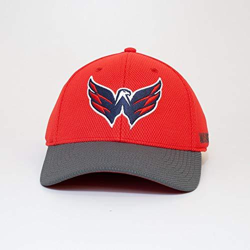 adidas Washington Capitals 2019/20 NHL Coach Flex Fit NHL Cap, S/M