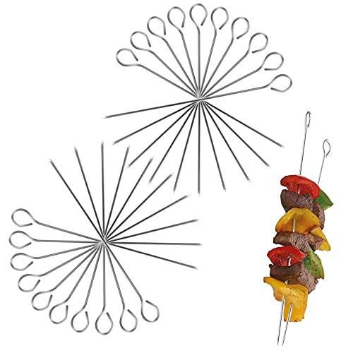 Szaszłyki do szaszłyków 20 szt. igły do mięsa metalowe szpikulce 15 cm szpikulce grill kemping ognisko rodzinne przyjęcie warzywa stal nierdzewna szish kabob na zewnątrz grill rodzinne spotkania i kemping gotowanie