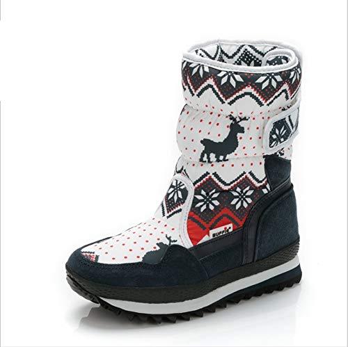 LIUJUN-WEI Botas de Nieve for Niños, Protección contra El Frío, Botas Impermeables for Niños, Botas de Invierno de Esquí de Viaje, Botas de Forro de Piel (Size : 38)