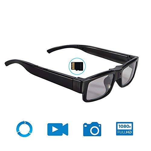 Mofek 16 GB HD 1920 x 1080 P Spion-Brille versteckte Kamera Kamera Videobrille Recorder Mini DV-Camcorder