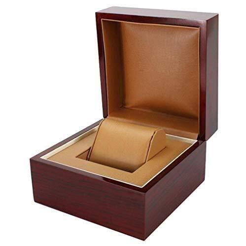 ZhenHe Staubdichte Uhrenbox Uhrenaufbewahrung Luxuriöse Holz-Uhrenbox & Display-Box mit Holz-Geschenkbox Herren...