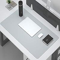 拡張 デスクマット プロテクター,多機能 持っている 革 大きな オフィス 書く デスク コンピューター 食品 マウスパッド 防水 デスクパッド For オフィス そして ホーム-ライトグレー. 70x35cm(28x14inch)