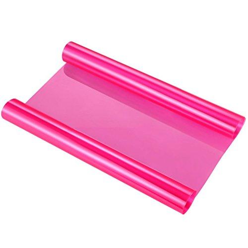 WINOMO 120 * 30cm Auto Licht Aufkleber Selbstklebendes Scheinwerfer Fenster Tönungs Vinylfilm (Rosa)