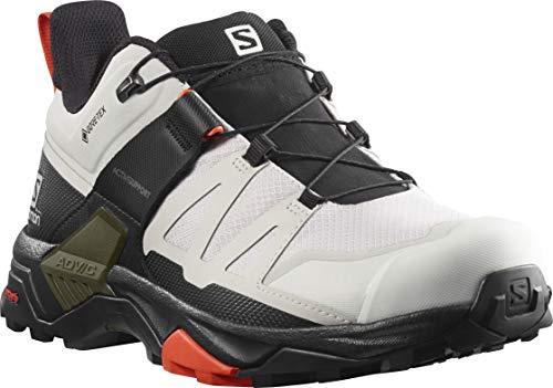 SALOMON Men's X Ultra 4 GTX Hiking Shoe, Lunar Rock/Black/Cherry Tomato, 7.5 UK