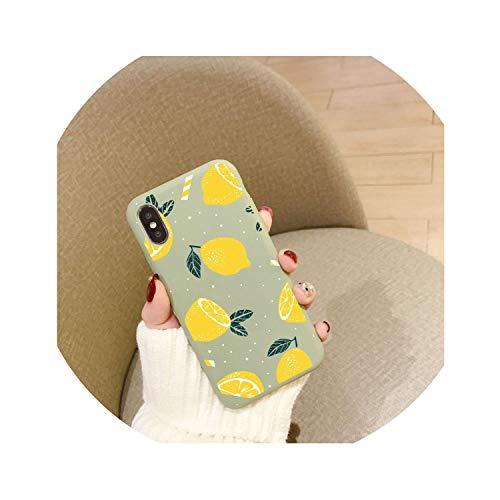 ZZmet - Carcasa para iPhone XR XS MAX X 7 8 6 6S Plus, diseño de limón de Frutas