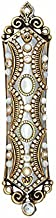 Mother of Pearl Mezuzah Plated in 24K Gold. Timeless and Sophisticated Mezuzah Case. Comes with a Scroll and Screws. Handmade by Michal Golan.