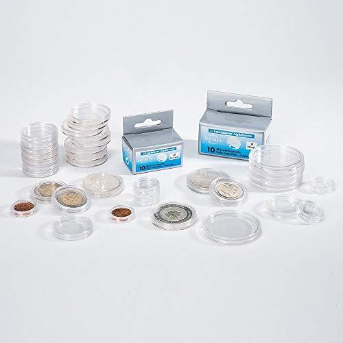 LEUCHTTURM Münzkapseln CAPS26 | 100 Stück | Für Münzen bis zu einem Durchmesser von 26 mm | z.B. zur Aufbewahrung von 2-Euro-Münzen, Gedenkmünzen und Kursmünzen.