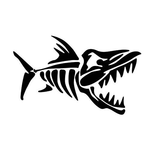 Empty 3 Stück Auto Aufkleber und Abziehbilder 11 * 7CM Cartoon Fish Bones Wasserdichtes, reflektierendes Abziehbild für Stoßstangenfenster Laptop Motorrad Fahrradgepäck Graffiti Patches