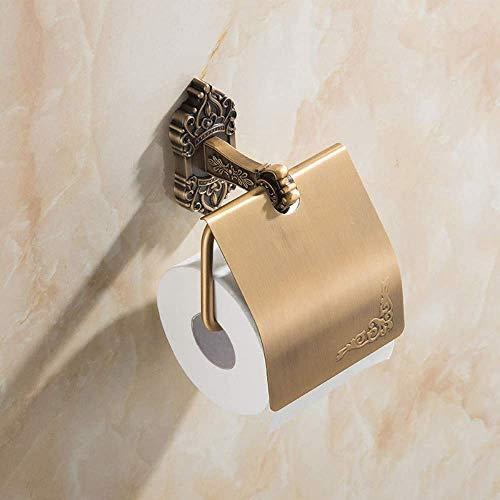 CESULIS Cuarto de baño estante de aluminio cuarto de baño papel toalla titular de rollo de papel higiénico retro baño colgante carrete organizadores/bastidores