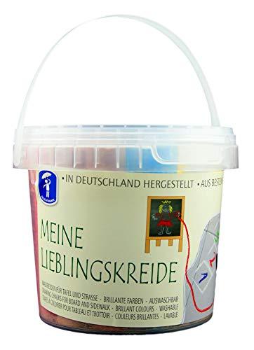 Feuchtmann Spielwaren 6575001 - MEINE LIEBLINGSKREIDE brilliante Kreide für Straße und Tafel, 20 Stangen im wiederverwendbaren Spieleeimer