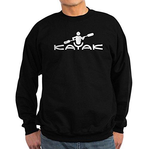 CafePress Sweatshirt mit Kajak-Logo, klassisches Sweatshirt mit Rundhalsausschnitt Gr. XXL, Schwarz