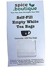 Natural y autollena bolsas de té, spice.boutique. Ideal para té de hierbas y tés de hojas sueltas. Sobres de filtro del papel (One Cup (100 bolsas de té)