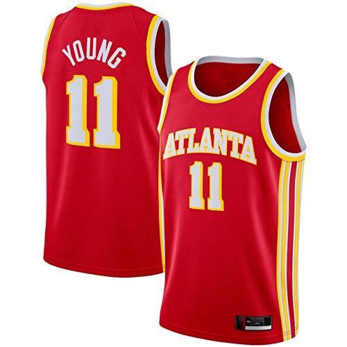 WANZON Hombres Baloncesto Jersey Unisex Temporada 2020/21 Swingman Jersey #11 Baloncesto Jersey Transpirable Al Aire Libre Casual Camisetas Hombres - Rojo