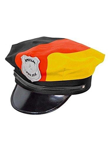 Folat 31202 – Police Chapeau Allemagne Noir/Rouge/Jaune