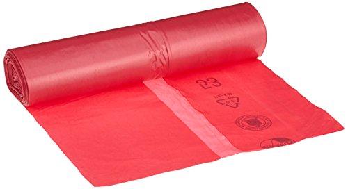 Deiss 11730 Premium - Bolsas de basura (2 1/4 x 1000 mm, 25 por rollo), color rojo