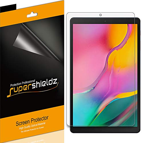 (3 Pack) Supershieldz for Samsung Galaxy Tab A 10.1 (2019) (SM-T510 Model) Screen Protector, High Definition Clear Shield 0.23mm (PET)