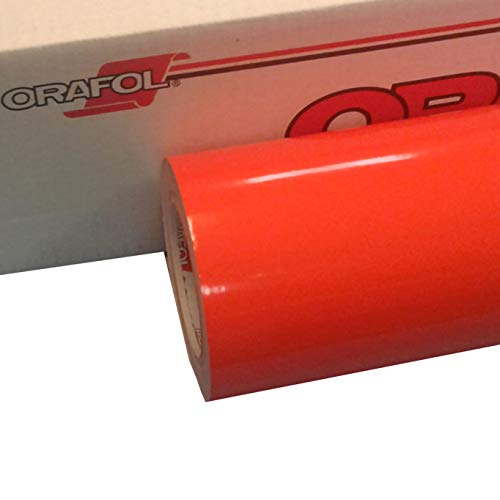 "Orange 24"" x 30 Ft Roll of Glossy Oracal 651 Vinyl for Craft Cutters and Vinyl Sign Cutters"