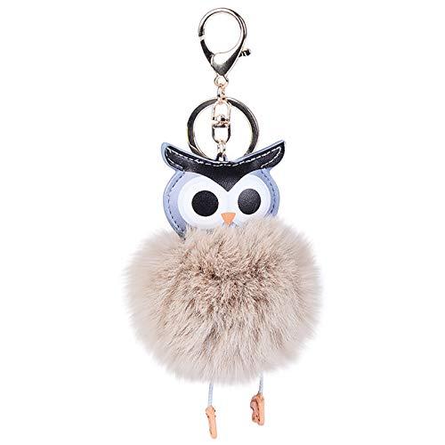 SOMESUN Schlüssel Ring Rucksäcke Dekoration, Plüsch Toys Anhänger Schlüsselanhänger, Tier Puppen Schlüsselanhänger Kugeln Anhänger Lovely Schlüssel Kette Dekoration niedliche Eule