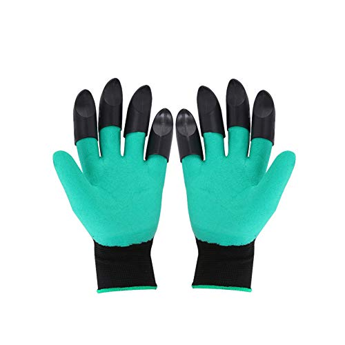 DINGUO Tuinieren Bloemen Digging Handschoenen Waterdichte Arbeidsverzekering Digging Pit Planting Dubbel-klauw Anti-slip Beschermende Handschoenen Een Paar