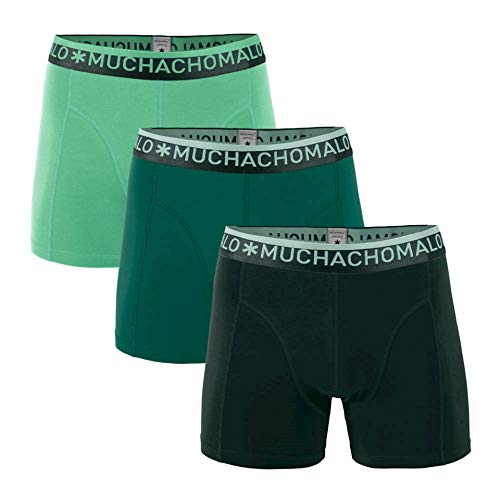 Muchachomalo Herren 3er Pack Shorts SOLID Green Tint, Größe:M