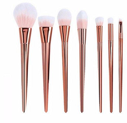 RY@ Maquillage Blush Set, 7 PCS Maquillage Foundation Eyebrow Eyeliner Blush cosmétiques Correcteur Brushes- Multicolor , A