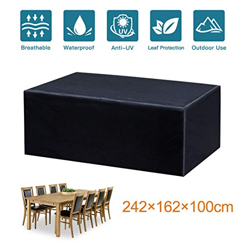 Mutsitaz 210D Funda para Muebles de Jardín (242 X 162 X 100 cm)
