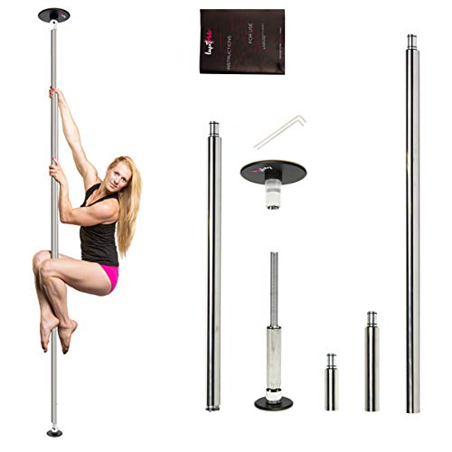 LUPIT POLE Dance Pole for Home Classic Model – G2 - Stainless Steel, 42mm (1.65in) – Spinning and Static Mode – Studio Portable and Removable Fitness Dancing Pole