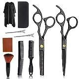 OOTO Tijeras de corte de pelo para mujeres y hombres, tijeras profesionales para cortar el pelo, tijeras de peluquería para adultos, color plateado, 10 unidades