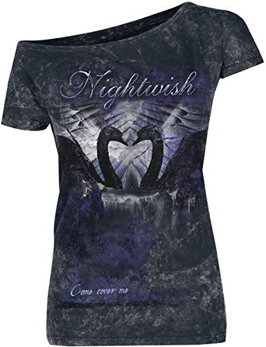 Nightwish Come Cover Me Frauen T-Shirt schwarz S 100% Baumwolle Band-Merch, Bands