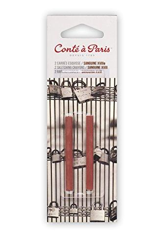 COLART AMERICAS INC. Pastel Sanguine XVIII Century, 2 Pack Conte Crayons, Multicolor