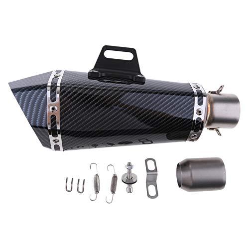 YXWEI® Edelstahl Auspuff-Endstück Schalldämpfer Spitze Rohr-Fit Durchmesser 36-51mm for ATV