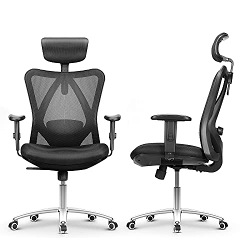 mfavour Ergonomic Office Chair Desk Chair Computer Chair with Adjustable Lumbar Support and...